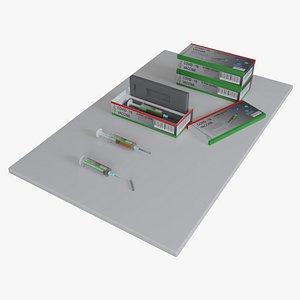 vaccine box syringe 3D model
