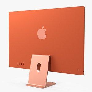 3D Apple iMac 2021 Orange model