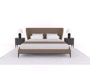 3D gentleman bed poliform model