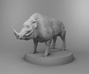 3D animals nature boar model
