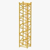 Crane D Intermediate Section 12m Yellow