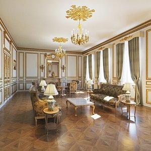 victorian style interior model