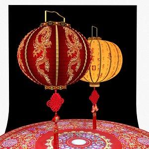 3D model chinese red lantern