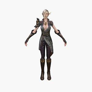 3D elf knight model