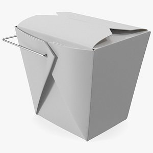Paper Take Out Food Container 32 Oz 3D model