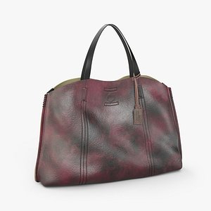 3D Old trend leather bag