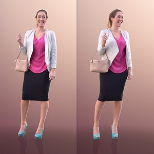 3D 10301 Rocio - Elegant Woman Standing With Bag model