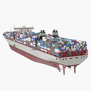 Loaded Ultra Large Container Vessel model