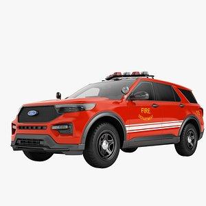 3D Ford Explorer 2020 Fire Department 01