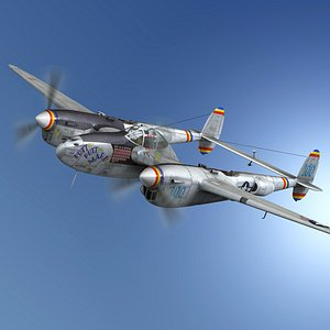3D model lockheed lightning - maru