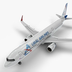 a321 neo ural airlines 3D model