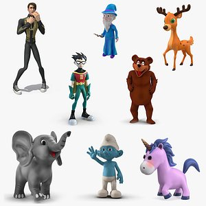 3D Cartoon Rigged Characters Collection 5 model