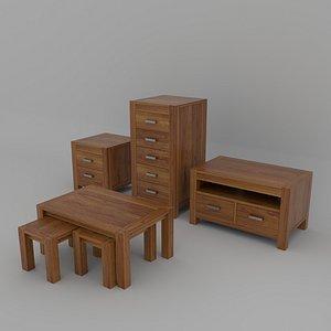 3D oak furniture model