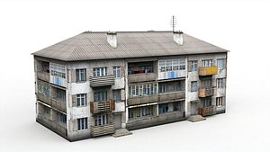 3D Three-storey house model
