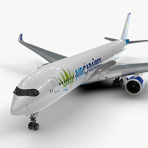 3D model a350-900 air caraibes l1143
