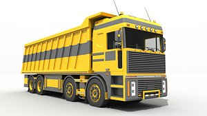 3D model truck construction
