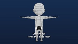 rig characters base mesh 3D model
