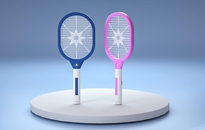 Electric mosquito clap mosquito trap lamp mosquito clap fly swatter tennis racket mosquito clap inse 3D