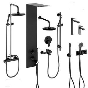 shower faucet set systems 3D model