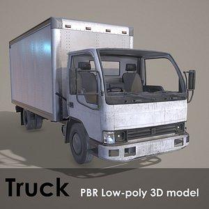 3D Truck PBR Low-poly model