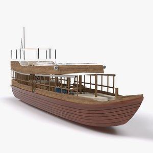 tourist boat 3D