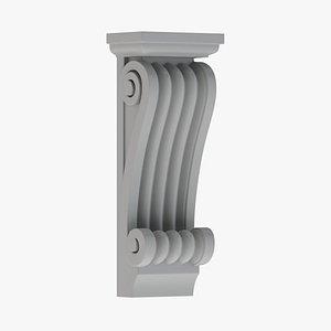 Scroll Corbel 52 - 3D Printable 3D model