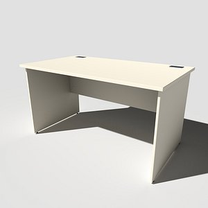3D Office Desk Panel End model