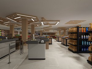 3D model Supermarket, convenience store, store, mall, RT-Mart, concession stand, shelf container