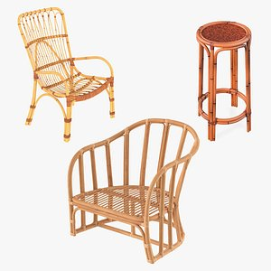 3D Rattan Furniture Collection 2