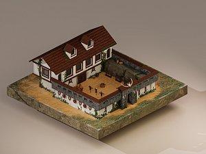 Warrior Barracks Level 10 3D model