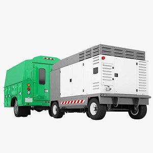 Service Truck Cabin 07 3D model