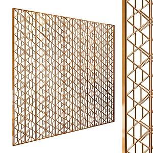 Decorative partition set 91 3D model