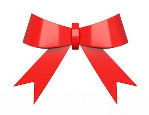 3D model Gift ribbon red simple cartoon