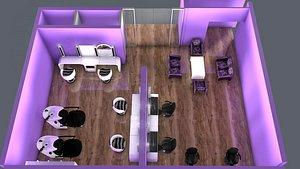 3D model beauty saloon