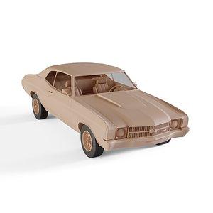 3D chevrolet chevelle convertible