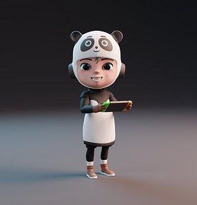 Panda Kid Character model