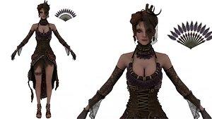 3D Elizabeth Casual Spring Idle Pose 04 3D model