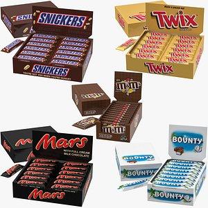 3D candies box model