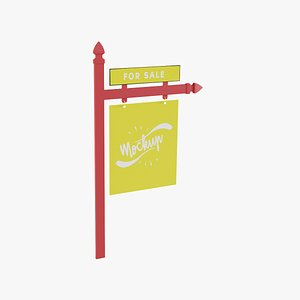 real estate sign 3D model