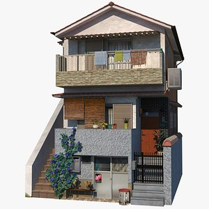 house townhouse building 3D model