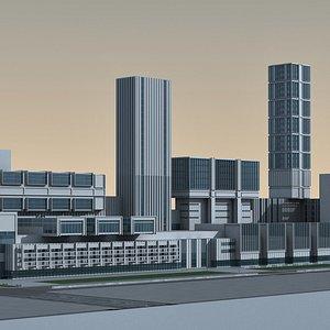 Modern City 09 3D model