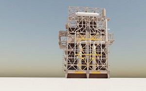 refinery industry 3D model