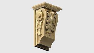 3D carved bracket decorating