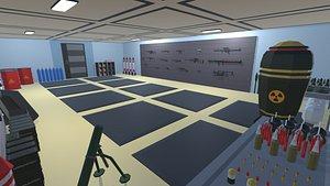 3D gun weapon explosive model