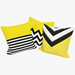 Geometric Pillows V3 3D model