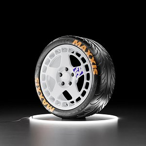 Car wheel Maxxis Victra tire with fifteen52 Turbomac rim 3D model