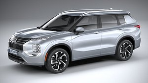 3D mitsubishi outlander 2022 model