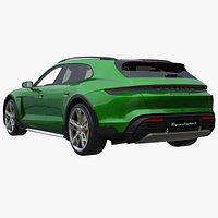 2022 Porsche Taycan Cross Turismo Turbo S with Interior 3D
