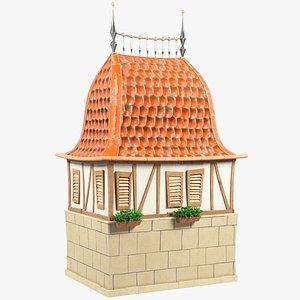 3D stylized old city