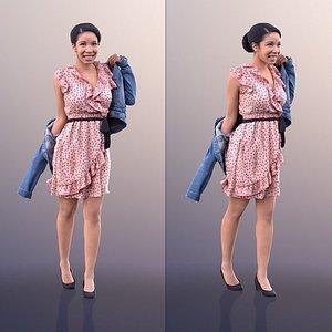 woman summer dress 3D